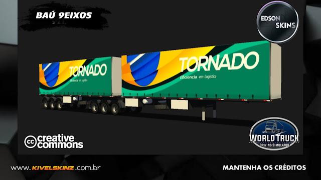 BAÚ 9EIXOS - TORNADO TRANSPORTES