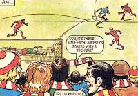 Frankie Jones scores vs Rovers in 1977