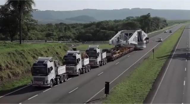 Começa nesta sexta-feira (27), operação para transporte de turbo gerador de 355 toneladas que vai dificultar o trânsito na BR-135, no Maranhão