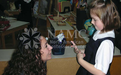 NAMC montessori explained importance of eye contact prepared environment teacher looking at student