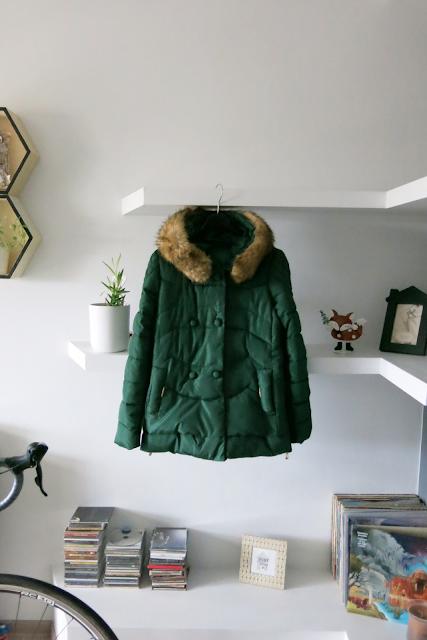 Winter outfit | Zielona kurtka