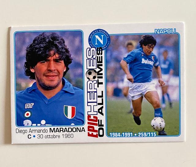 figurina maradona Napoli
