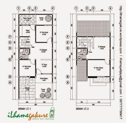desain rumah minimalis ukuran tanah 6x15