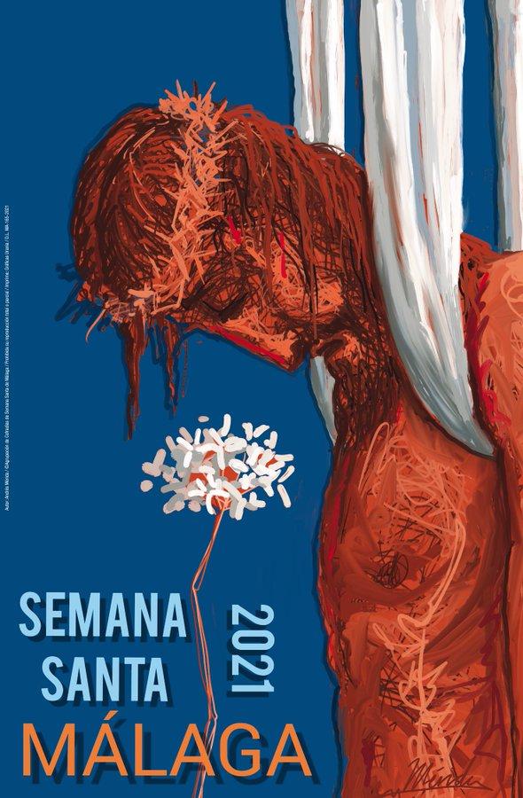 El cartel de Andrés Mérida ya anuncia la Semana Santa de Málaga