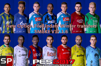 PES 2017 Option File Smoke Patch 17.1.6