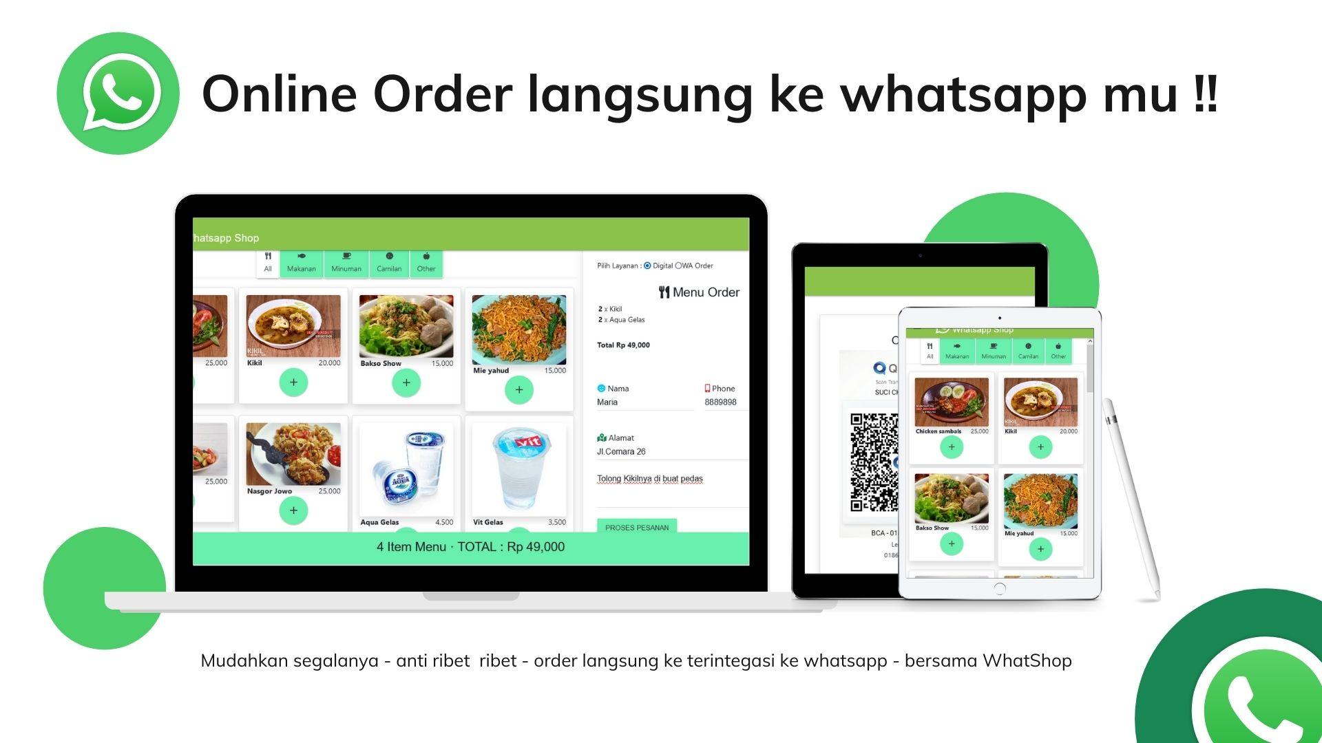 whatsapp online shop order toko online shop