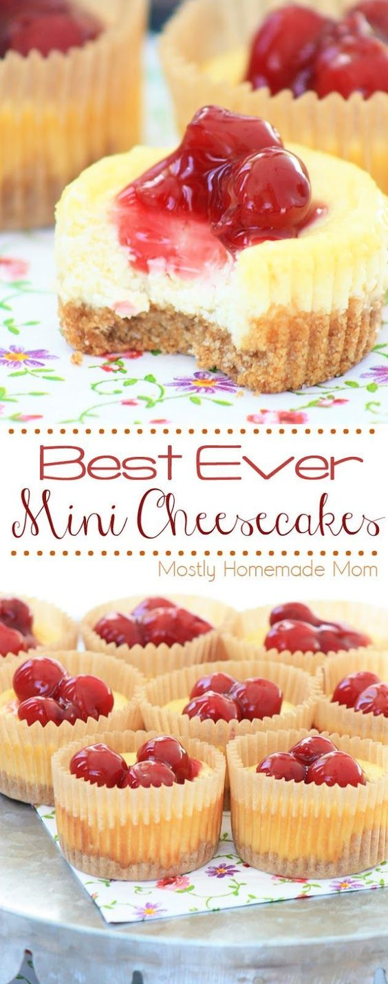 Best Ever Mini Cheesecakes #bestever #mini #cheese #cheesecakes #cake #cakerecipes #dessert #dessertrecipes #easydessertrecipes