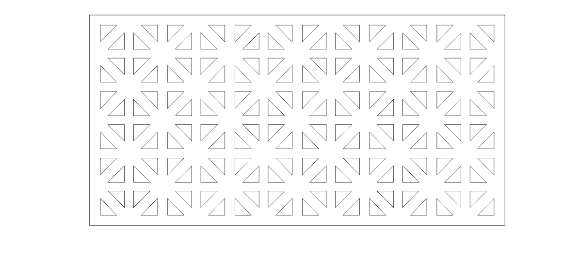 Free 150 Panels Patterns Decorative Square Grids For CNC laser cutting