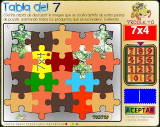 Los puzzles y las tablas de multiplicar