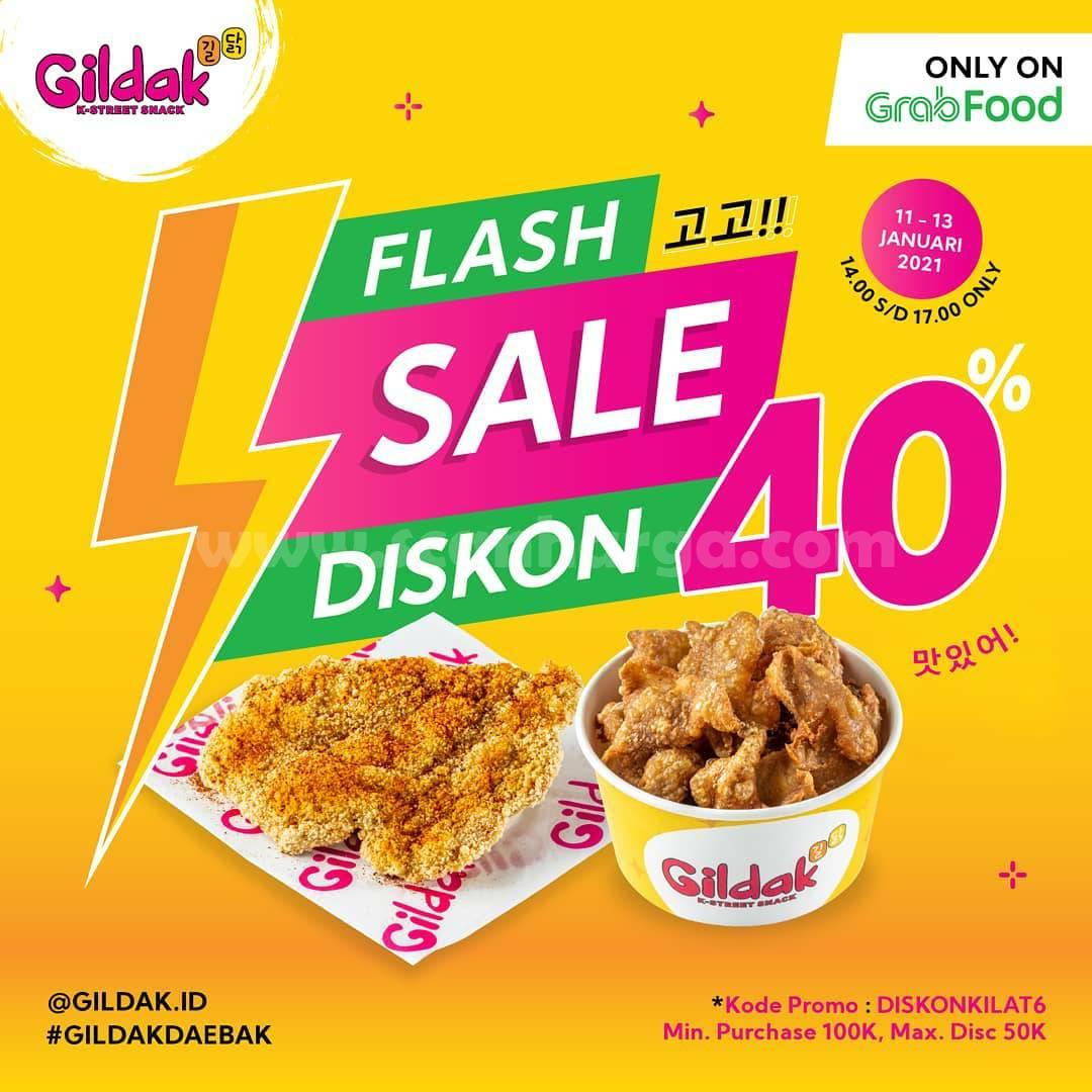 GILDAK Promo Flash Sale Diskon hingga 40% Khusus Pemesanan Via GRABFOOD