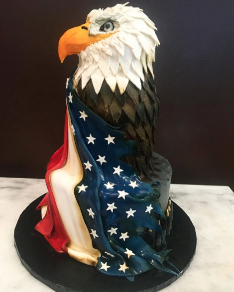 USA Flag With the Eagle Symbol Cakes for Husband