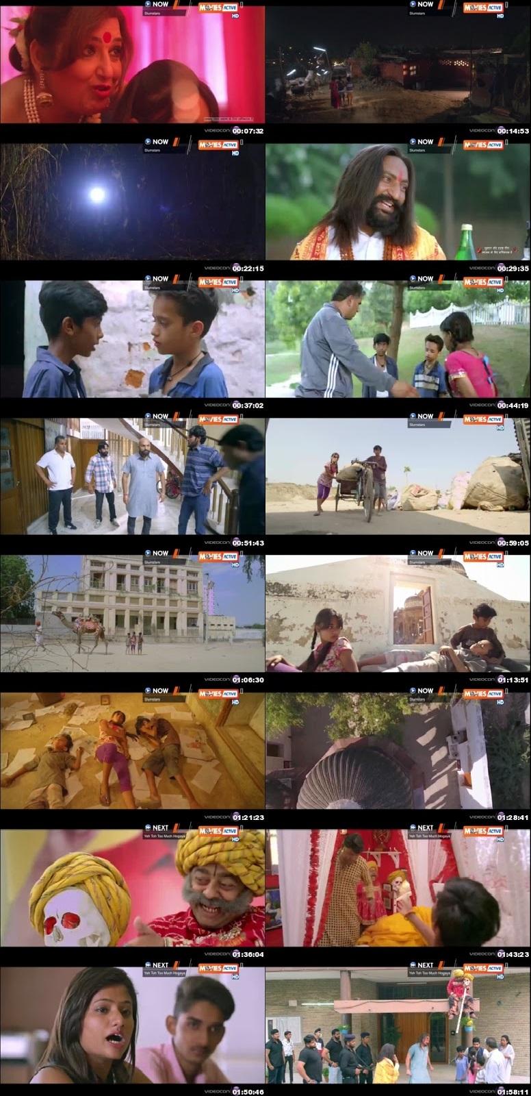Screen Shot Of The Slum Stars 2017 300MB HDRip 480P Full Hindi Movie Watch Online Free Download