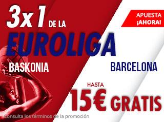 suertia promocion Baskonia vs Barcelona 20 diciembre