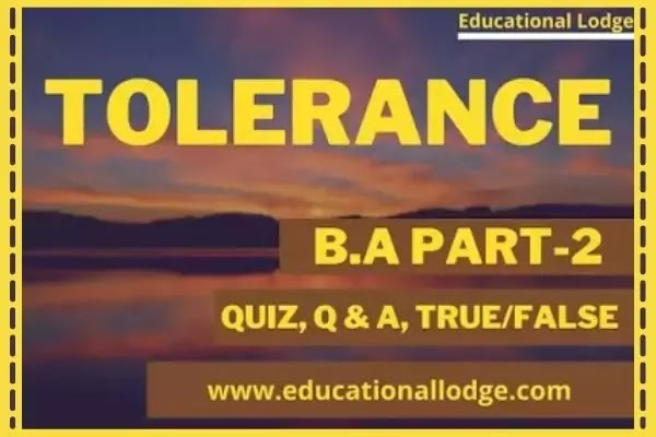Tolerance By EM Forster, Tolerance by EM Foster Summary