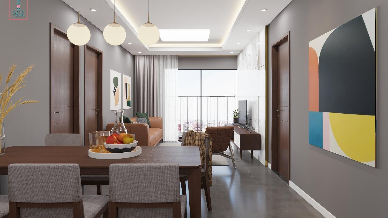Nội thất căn hộ chung cư 79 Ngọc Hồi