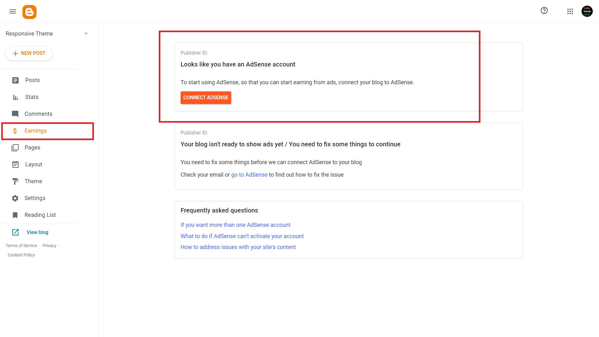 enable google adsense autoads