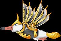 concept art skin gaviota guerrera con armadura
