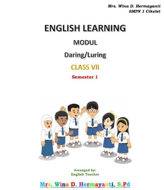 Modul Bahasa Inggris Kelas 7 SMP/ MTs untuk Daring / Luring
