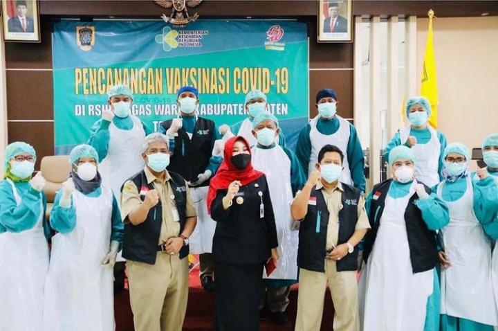 Hj. Sri Mulyani awali pencanangan vaksinasi di Kabupaten Klaten
