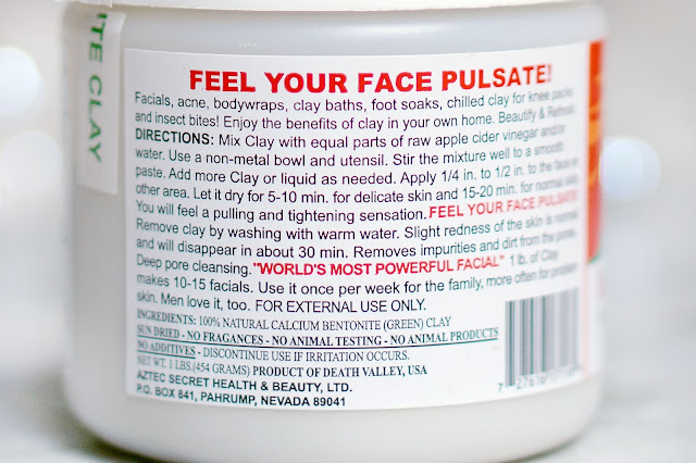 aztec healing clay face mask pore treatment best pore mask
