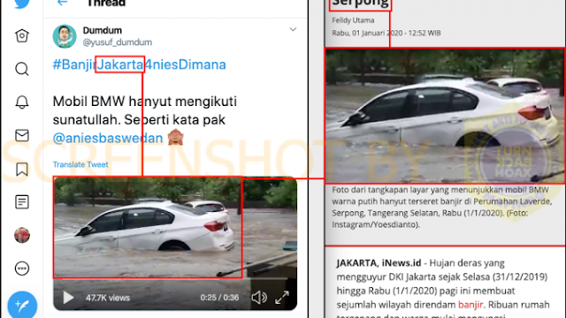 BMW Hanyut Serpong