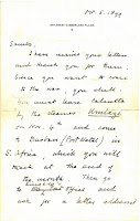 "Churchill letter to ""Sambo"""