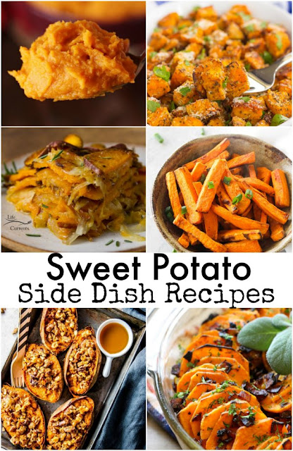 Sweet potatoes can be made into so many different side dishes. Here is a collection of recipes that are perfect not only for Thanksgiving, but for any dinner menu.