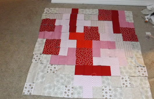 Oh my Heart - A quick turn around from Idea to a quilt top - Kinda