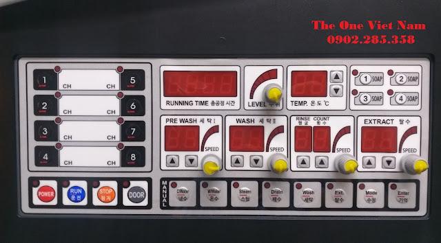 Các chương trình cài đặt của máy giặt công nghiệp