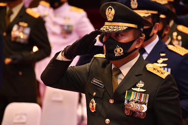 Ditengah Pandemik Covid-19, Mabes TNI Gelar Upacara HUT Ke-75 RI Secara Virtual