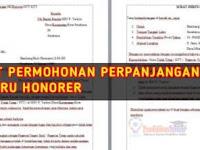 Surat Permohonan Perpanjangan SK Guru Honorer /GTT/GTY di Sekolah Negeri atau Swasta