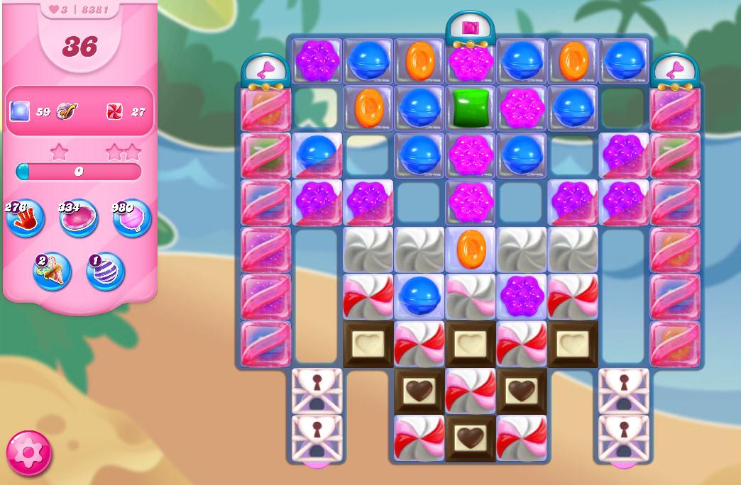 Candy Crush Saga level 8381