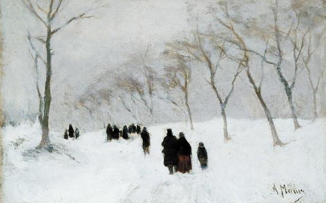 1878. Anton Mauve - Snow Storm