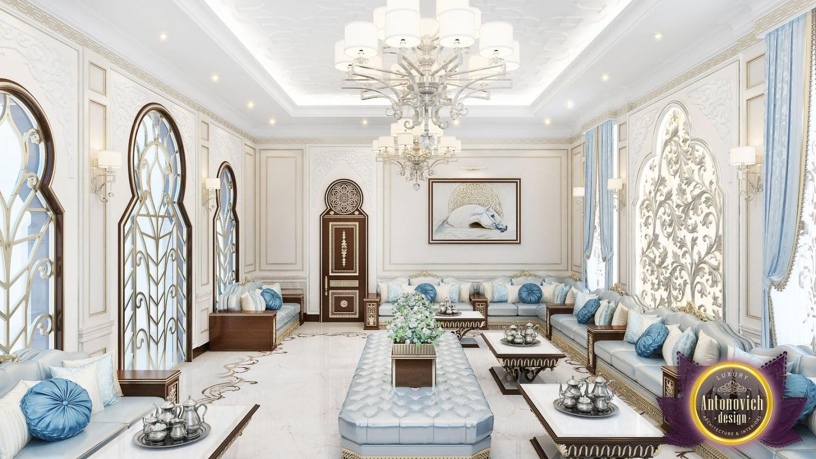 LUXURY ANTONOVICH DESIGN UAE: Living room design ideas in Arabic ...