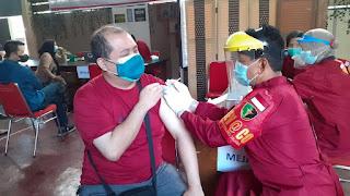 Sasaran Vaksinasi Massal Polres Salatiga Sebanyak 4.100 Orang