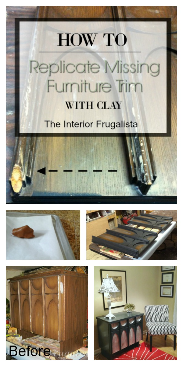 How To Replicate Missing Furniture Trim With Polymer Clay