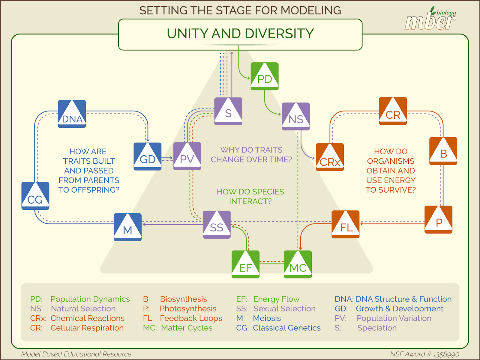 Model Based Biology Curriculum Map