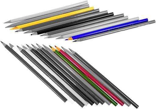 een setje potloden