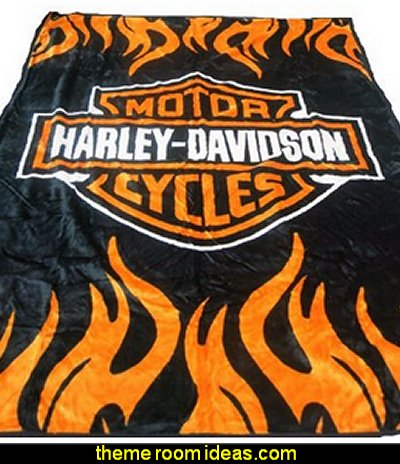 Harley Davidson Queen Size Double Side Plush Blanket