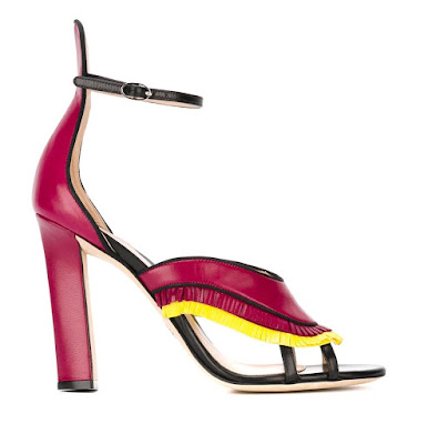 Paula Cademartori fringed high heel sandals