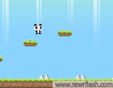 Jogos de plataforma, online, pixel: Panda Love.