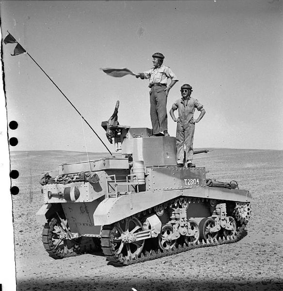 British soldiers with an American M3 Stuart tank in the Western Desert, 28 August 1941 worldwartwo.filminspector.com