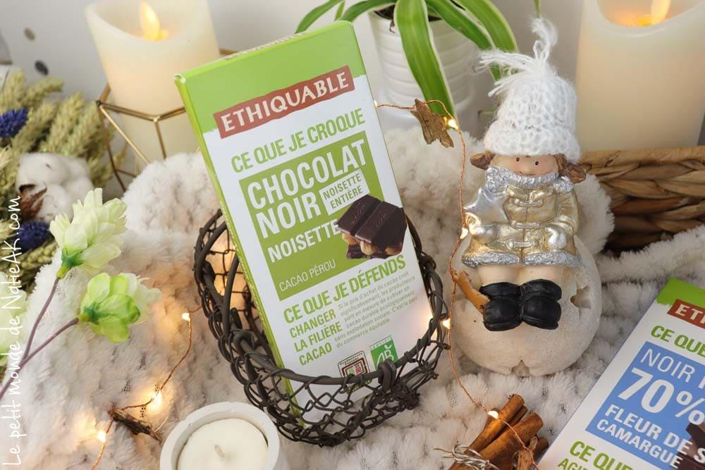 chocolat noir noisette entière Ethiquable