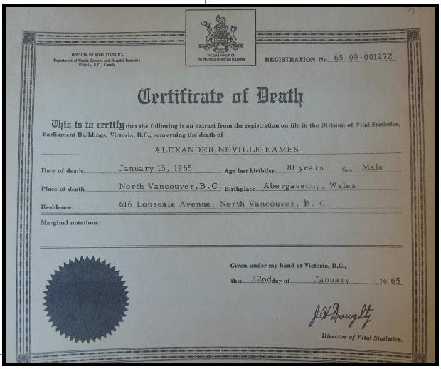 Death Certificate Ontario Sample Choice Image