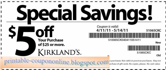 Kirklands coupons 2018 august