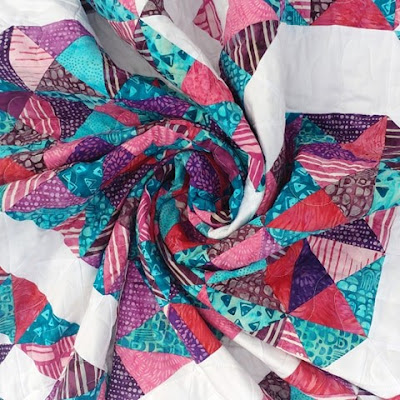 Exploding Heart quilt made with Island Batik fabrics