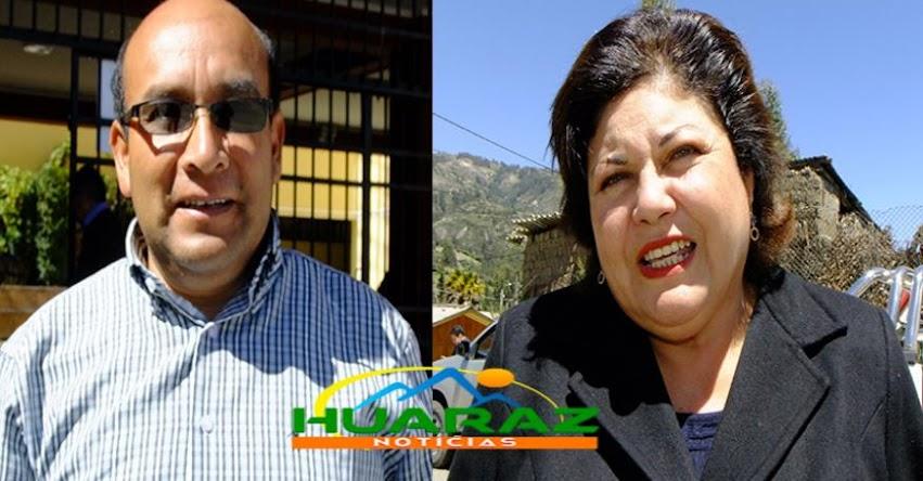 Denuncian que Romy Saldaña Távara, directora de la UGEL Huari también sería proveedora de su institución