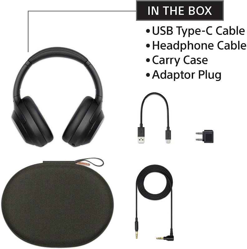 Sony WH-1000XM4 with its accessories