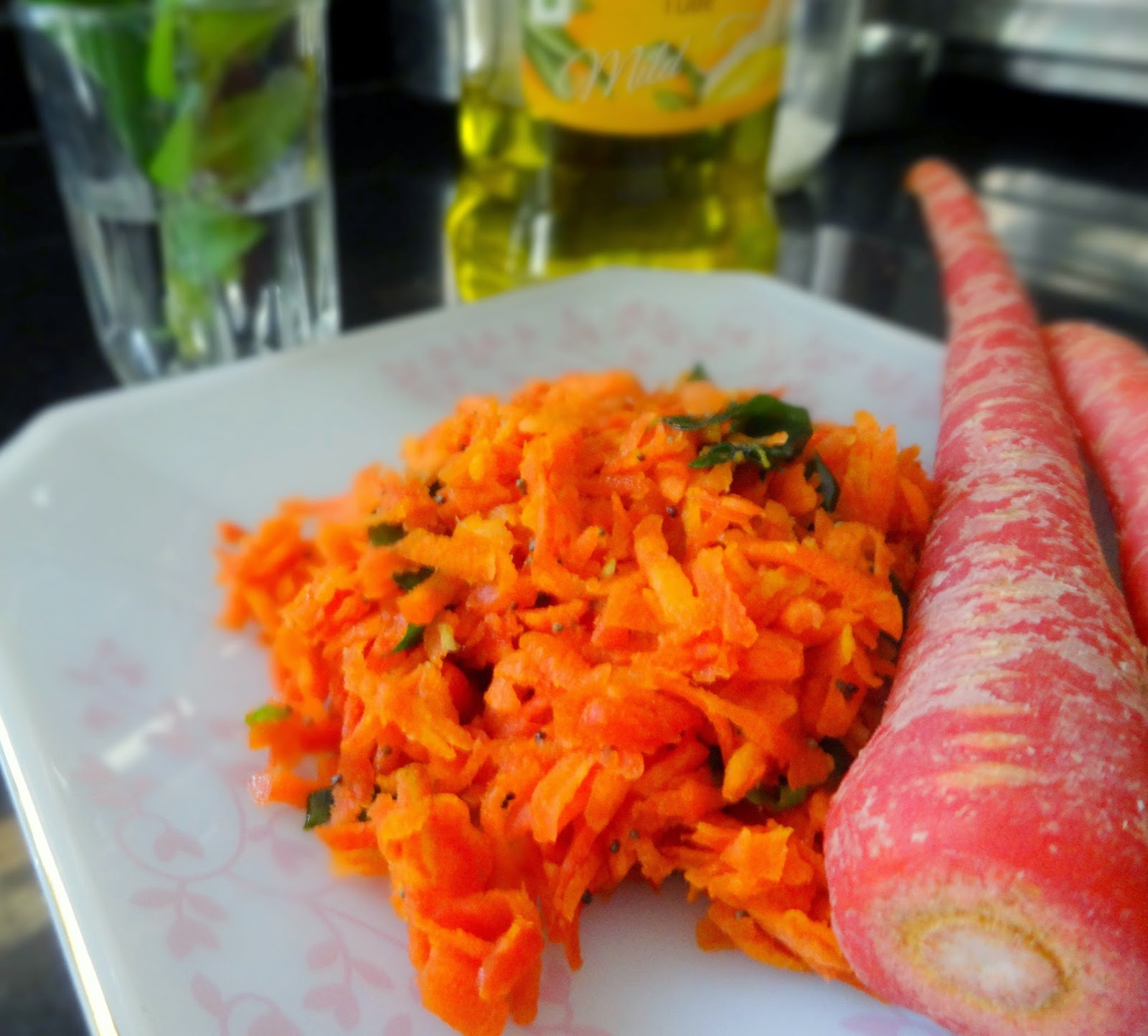 fascinatingfoodworld: Carrot Salad- South Indian style!