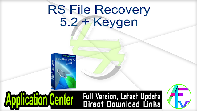 RS File Recovery 5.2 + Keygen